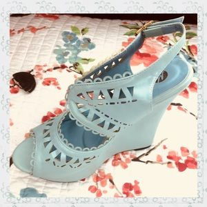 Light Blue fun wedges for the summer